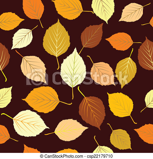 Autumn leaves seamless background - csp22179710