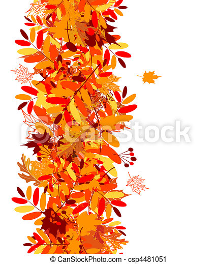 Autumn leaves seamless background - csp4481051