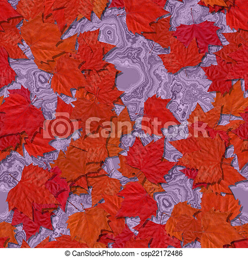 Autumn leaves seamless generated texture background - csp22172486