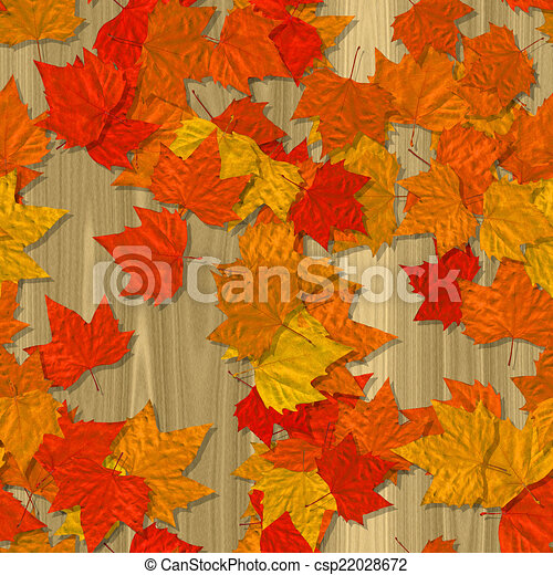 Autumn leaves seamless generated texture background - csp22028672