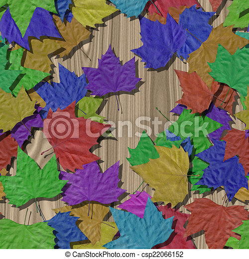 Autumn leaves seamless generated texture background - csp22066152