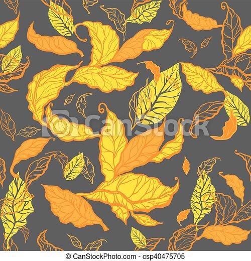 Autumn leaves seamless - csp40475705
