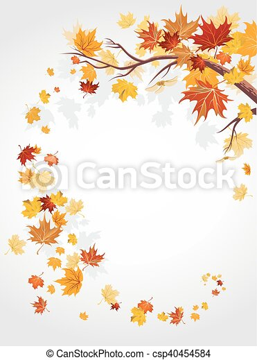 Autumn leaves swirl - csp40454584