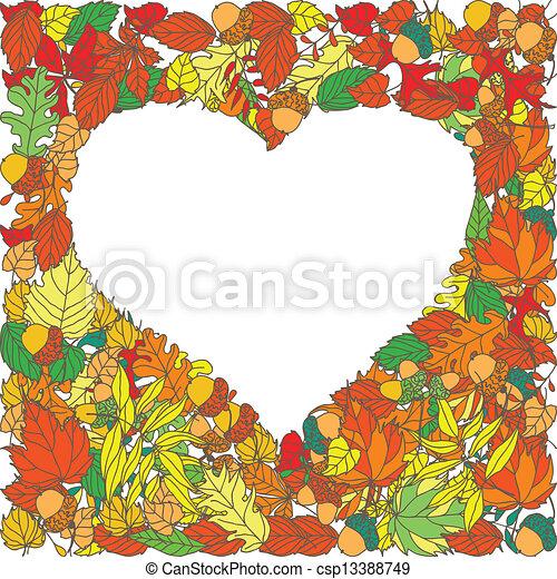 Autumn leaves vector background - csp13388749