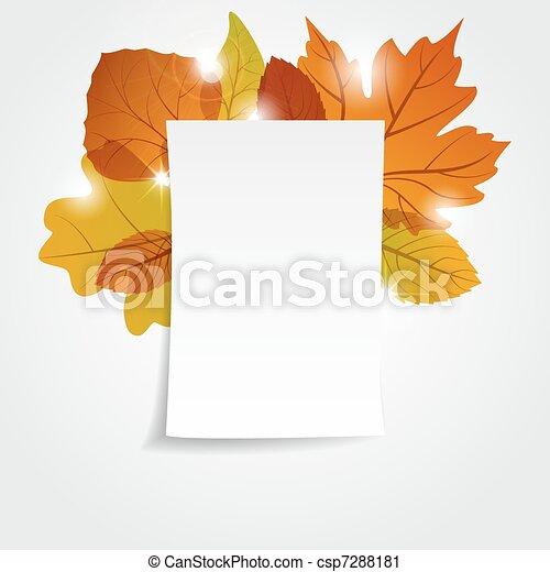 Autumn leaves - csp7288181