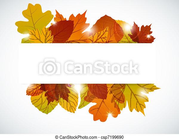 Autumn leaves - csp7199690