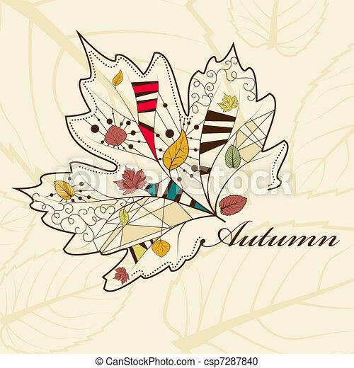 Autumn leaves - csp7287840