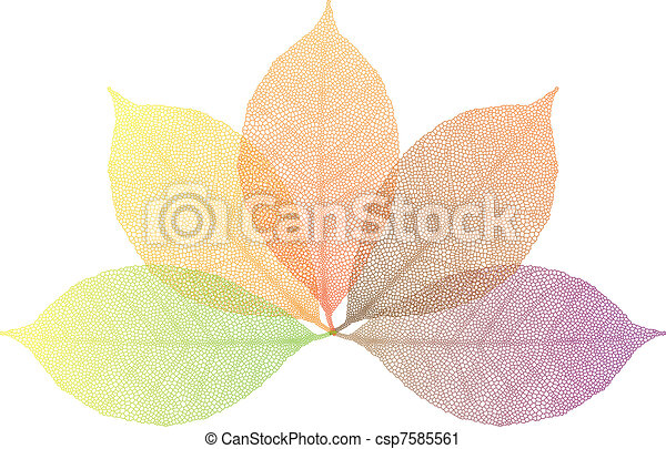 autumn leaves, vector - csp7585561