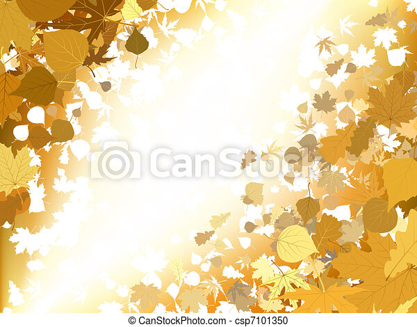 Autumn light background. EPS 8 - csp7101350