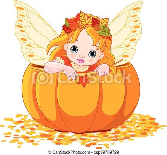Autumn Little Fairy - csp39709729