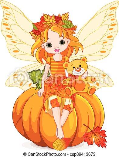 Autumn Little Fairy - csp39413673