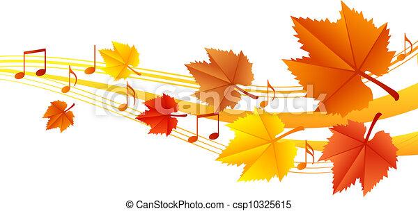 Autumn music - vector illustration - csp10325615