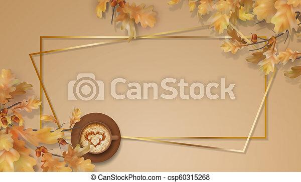 Autumn oak leaves branch - csp60315268