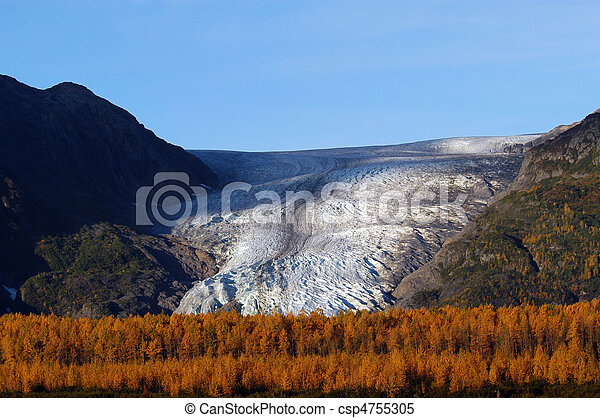 Autumn on Exit Glacier Seward Alaska - csp4755305