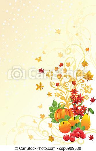 Autumn or Fall season background - csp6909530