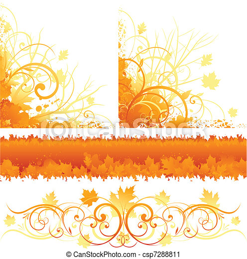 Autumn ornament design - csp7288811
