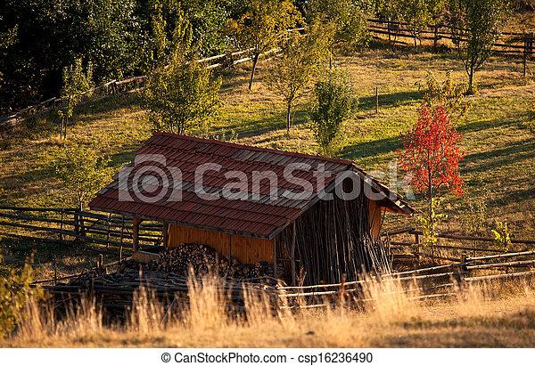 autumn over the bulgarian meadows - csp16236490