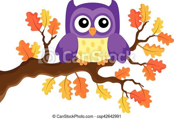 Autumn owl theme image 1 - csp42642991