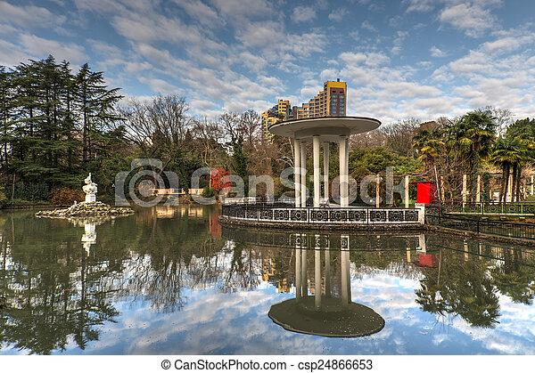 autumn park in Sochi - csp24866653