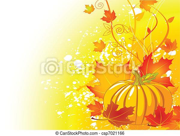 Autumn place card - csp7021166