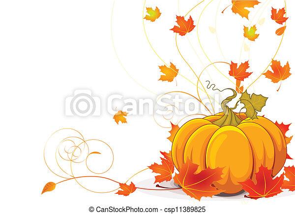 Autumn place card - csp11389825