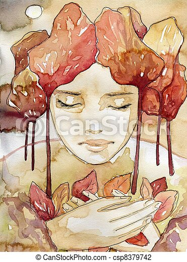 autumn portrait - csp8379742