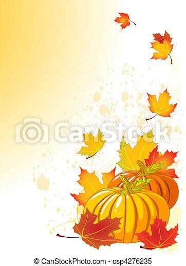 Autumn Pumpkin - csp4276235