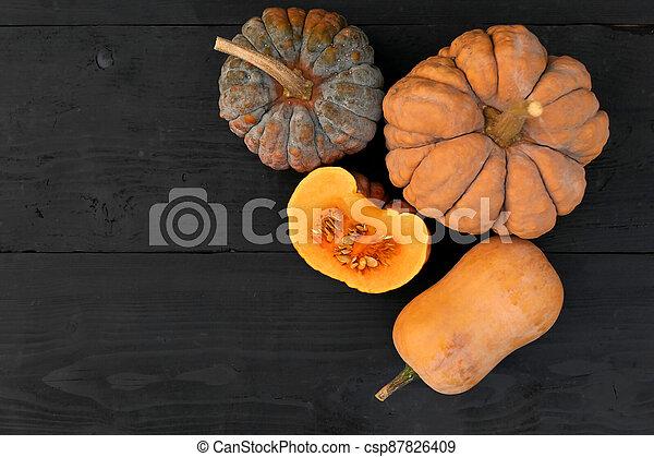 Autumn pumpkins Cucurbita moschata - csp87826409