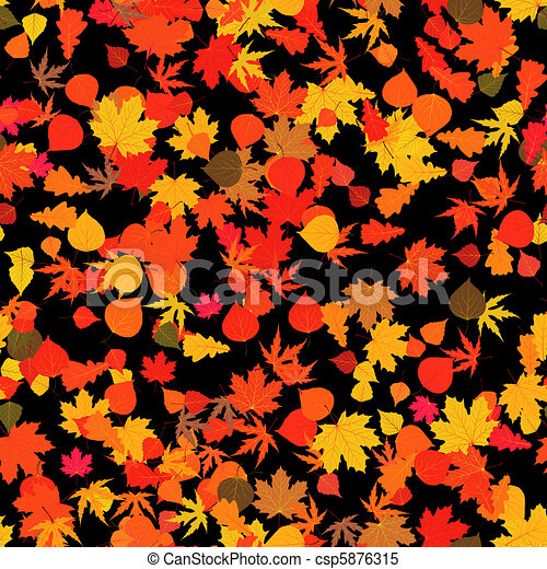 Autumn red bright leaves. EPS 8 - csp5876315
