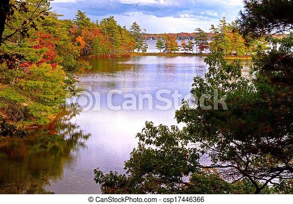 Autumn Reflection - csp17446366