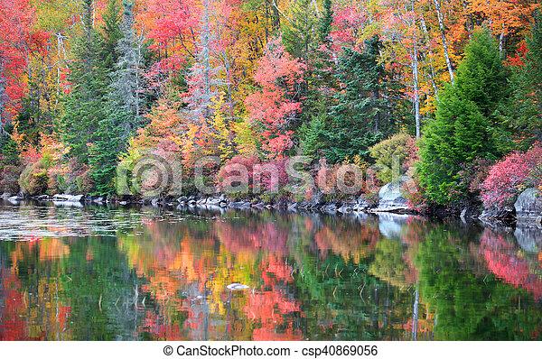 Autumn reflections - csp40869056