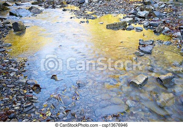 Autumn reflections - csp13676946