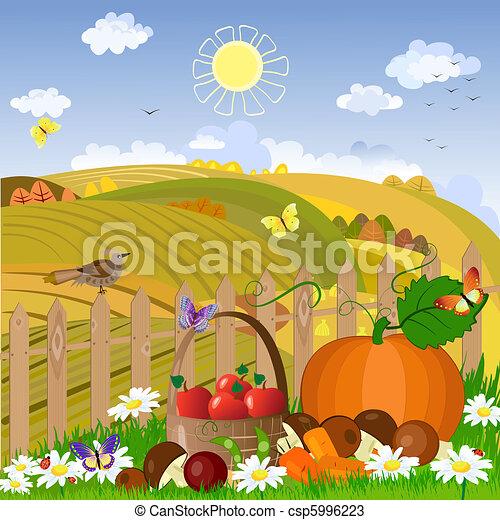 Autumn rural landscape - csp5996223