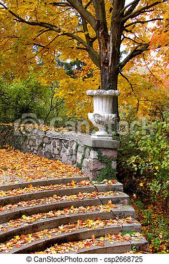 Autumn scene in a park - csp2668725