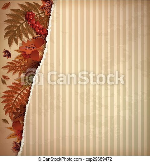 Autumn scrapbooking background - csp29689472