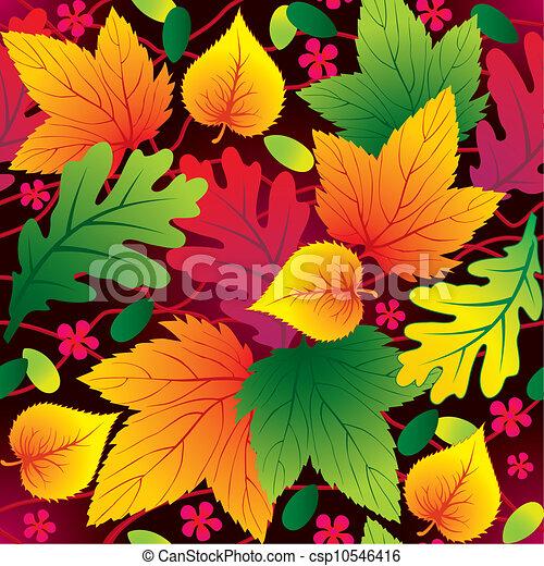 Autumn seamless background - csp10546416