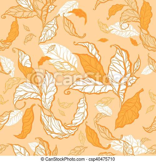 Autumn seamless background - csp40475710