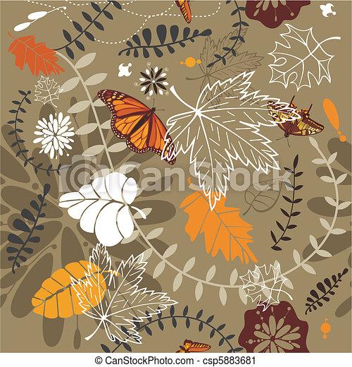 autumn seamless background - csp5883681