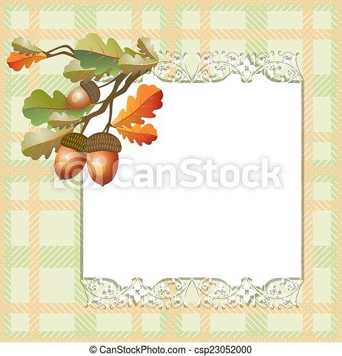 Autumn seamless background - csp23052000