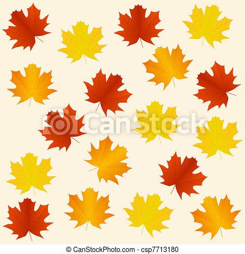 Autumn seamless background - csp7713180