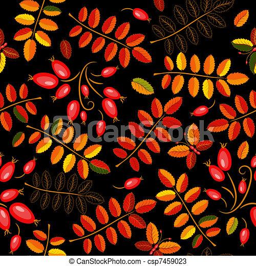 Autumn seamless floral pattern - csp7459023