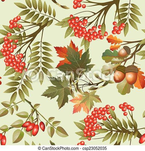 Autumn seamless texture - csp23052035