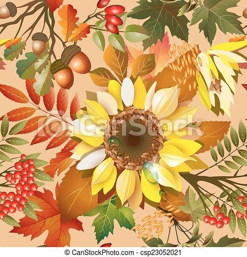 Autumn seamless texture - csp23052021
