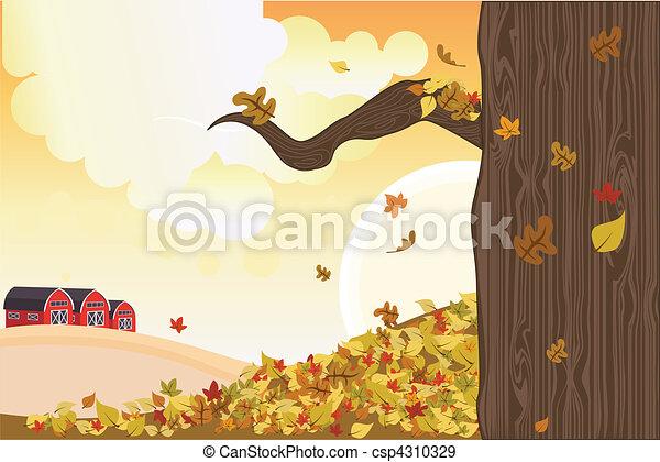 Autumn season - csp4310329