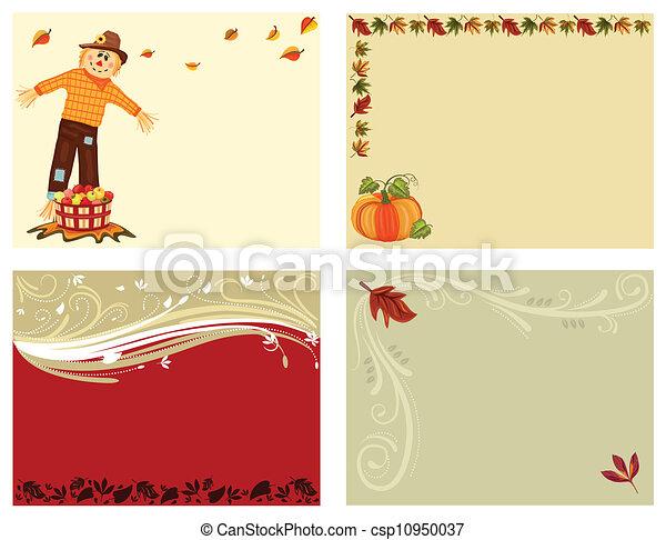 Autumn set of 4 cards - csp10950037