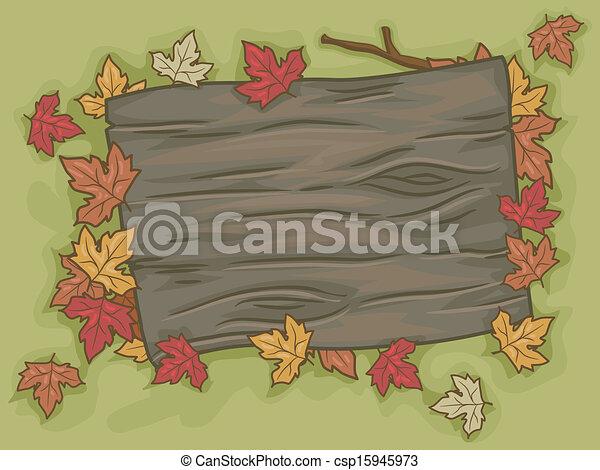 Autumn Signboard - csp15945973