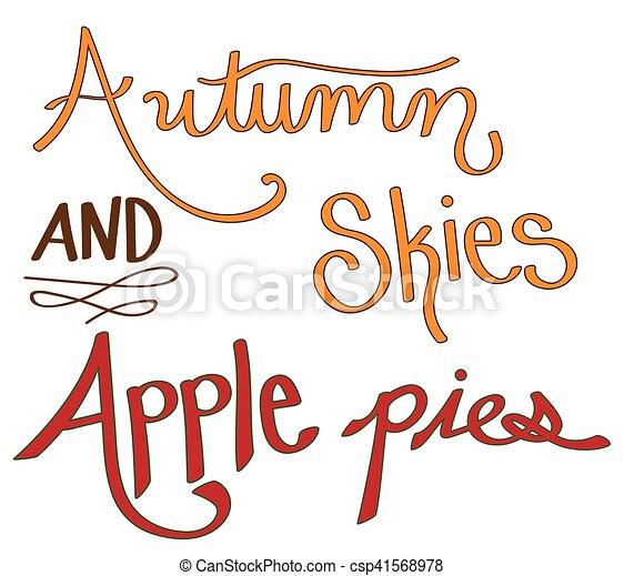 Autumn Skies and Apple Pies - csp41568978