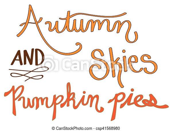 Autumn Skies and Pumpkin Pies - csp41568980