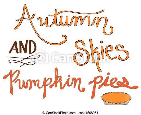Autumn Skies and Pumpkin Pies - csp41568981