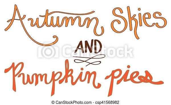 Autumn Skies and Pumpkin Pies - csp41568982
